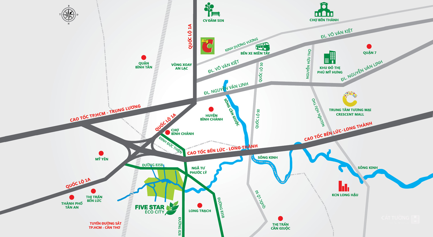 Vị trí - Five Star Eco City